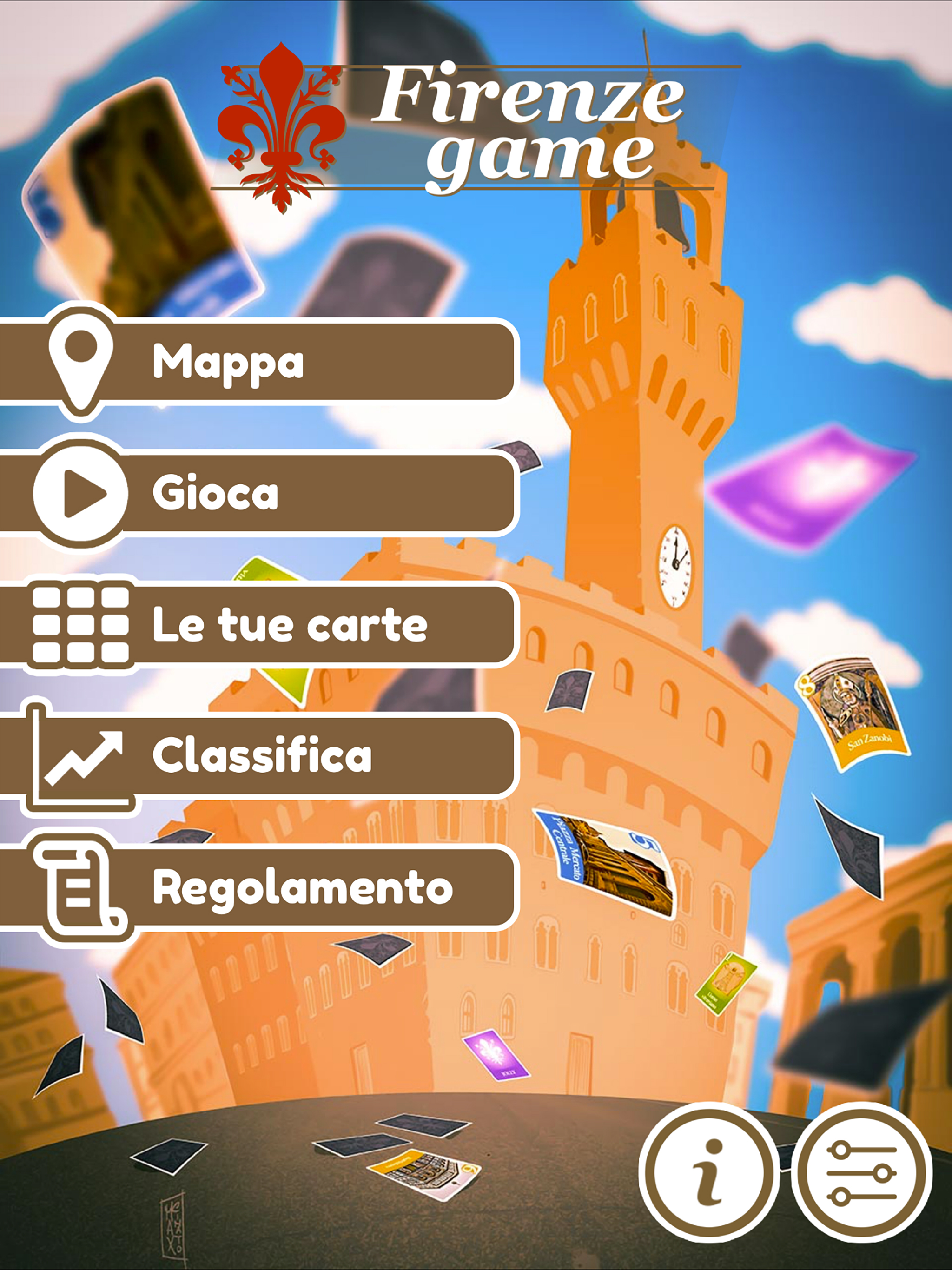 Firenze Game menu