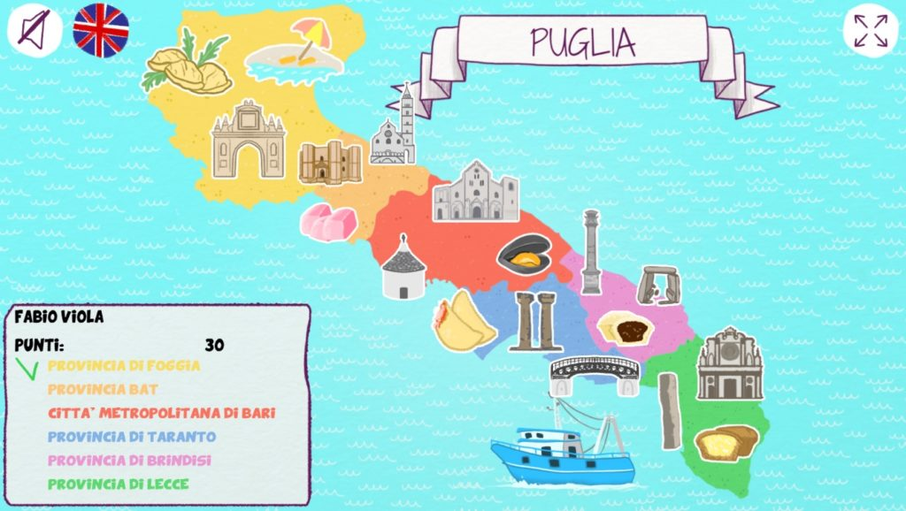 Cartina Puglia Con Province.Explorepuglia Scoprire La Puglia Giocando Associazione Culturale Tuo Museo